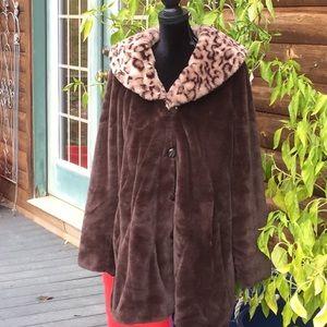 Dennis Basso Super Soft Faux Fur Hooded Coat